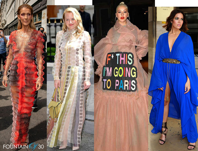 Celebrities at Paris Couture Week Fountainof30