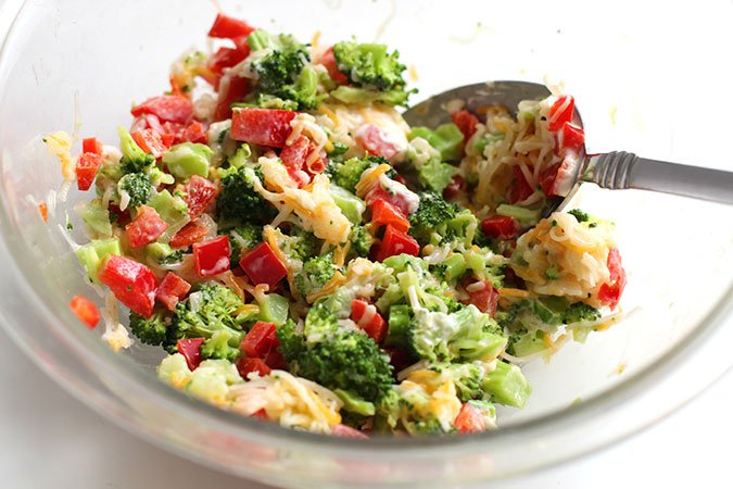 Broccoli Cheese mixing vegetables