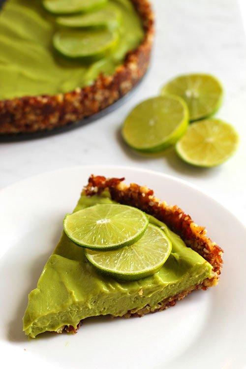 Vegan Key Lime Pie serving fountainof30