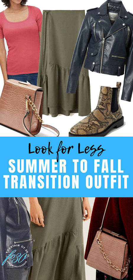 summer to fall transition outfit look for less fountainof30