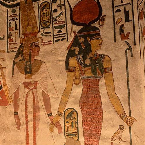 Nefertari Tomb cave paintings fountainof30