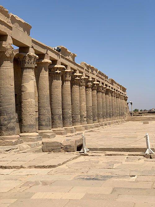egypt travel Luxor Temple blue sky fountainof30