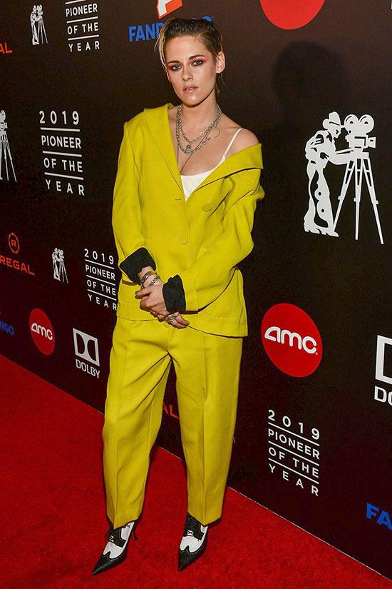 Color Power Suits Kristen Stewart fountainof30