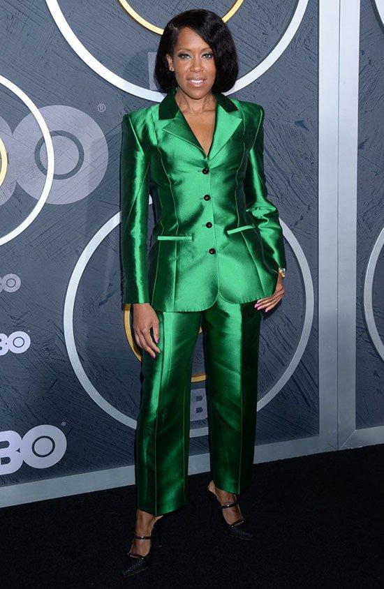 Celebrities in Color Power Suits Regina King