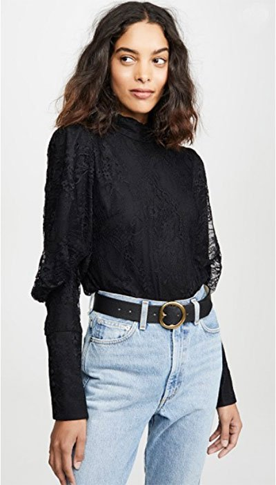 lace blouse trend black long sleeve fountainof30