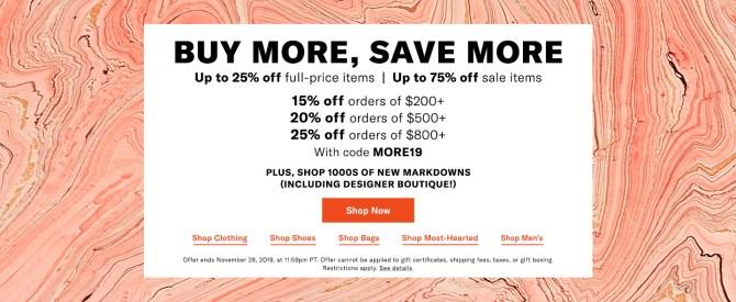 shopbop buy more save more november 2019 fountainof30