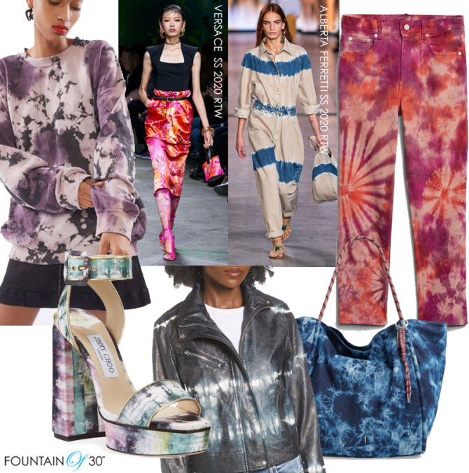 tie dye trend for women over 40 2020 fountainof30