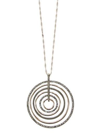 "Charming Charlie 33"" Long Rhinestone Necklace"