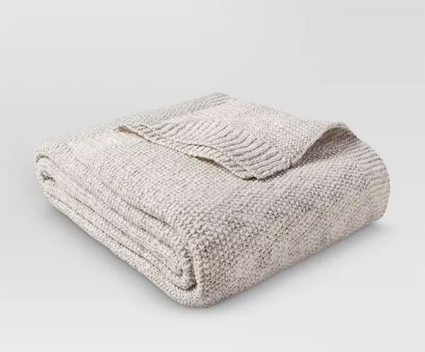 Sweater Knit Bed Blanket Throw fountainof30