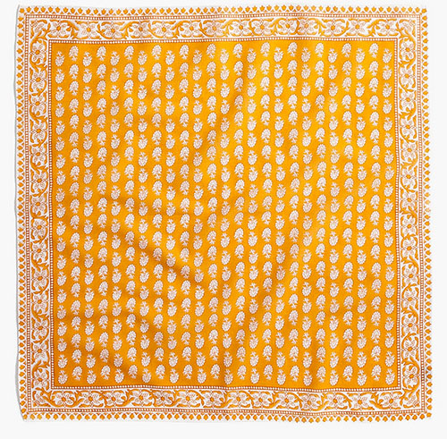 how to look your best for zoom Madewell Bandana yellow gold