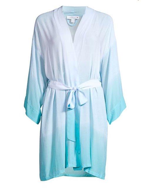 Blue Ombre Wrap Robe