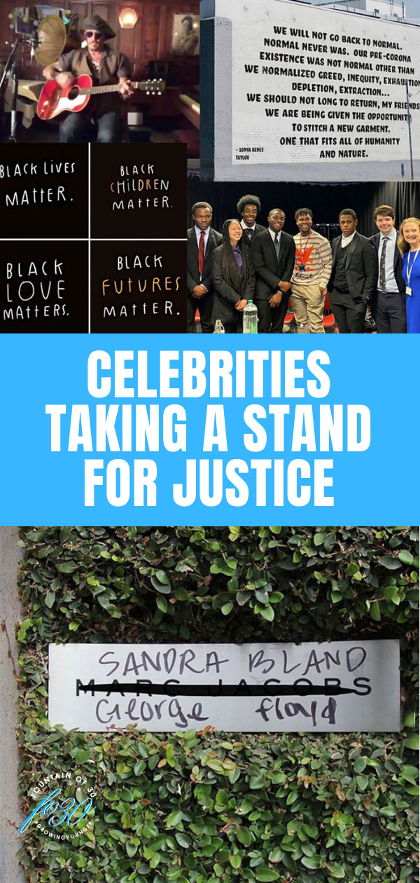celebrities taking a stand fountainof30