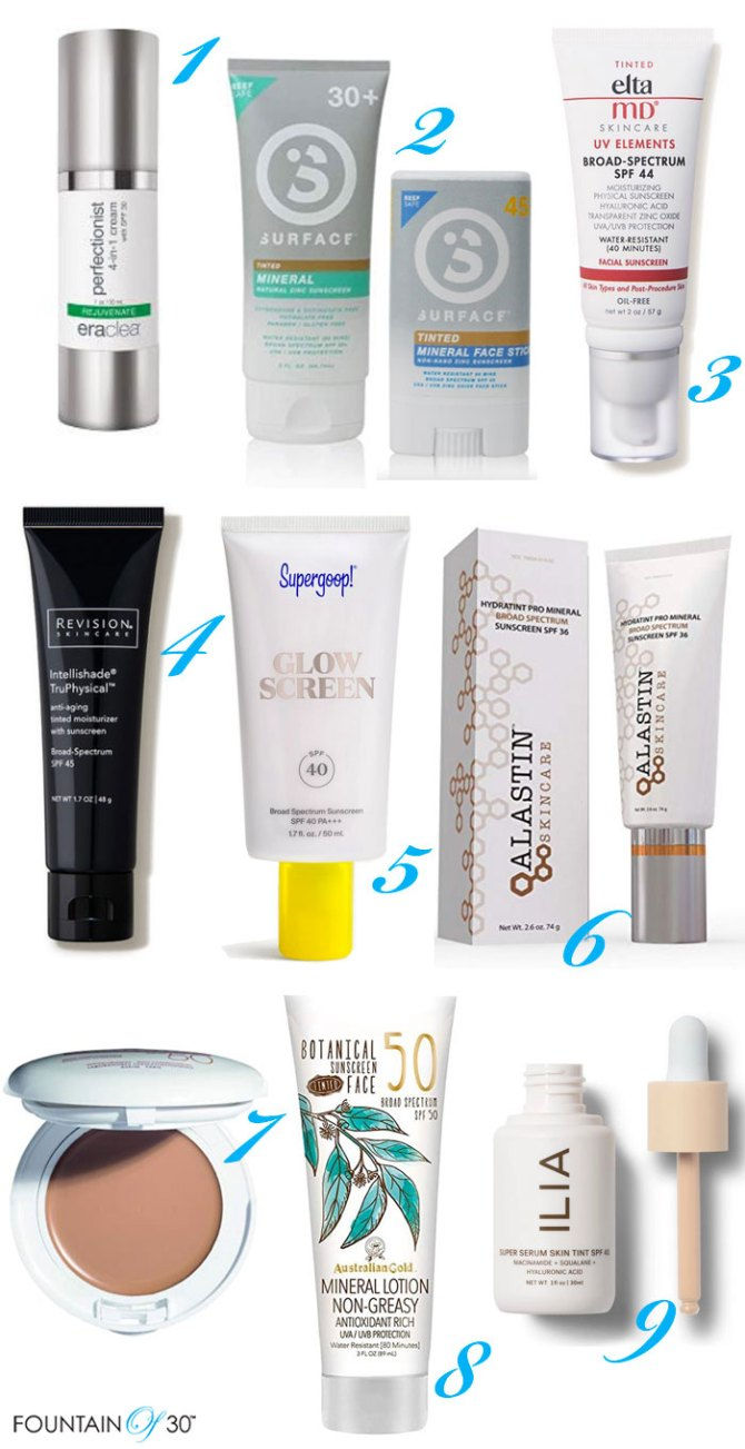 9 Tinted Sunscreens For Your Face fountainof30