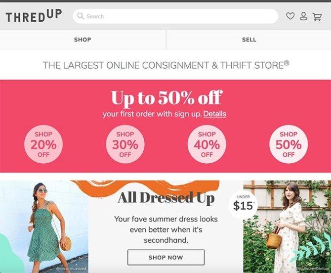 sell clothes thredup screen grab fountainof30