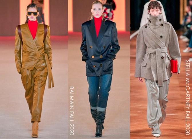pants trends on the fall 2020 runway balmain and stella mccartney