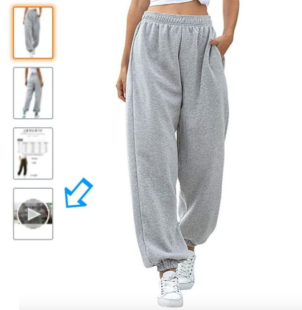 check for video Womens High Waist Sweatpants