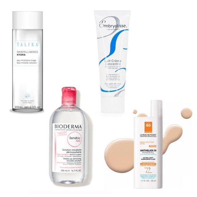 micelar water face cream sunscreen fountainof30