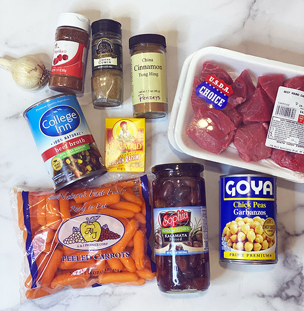 Moroccan Beef Stew ingredients fountainof30