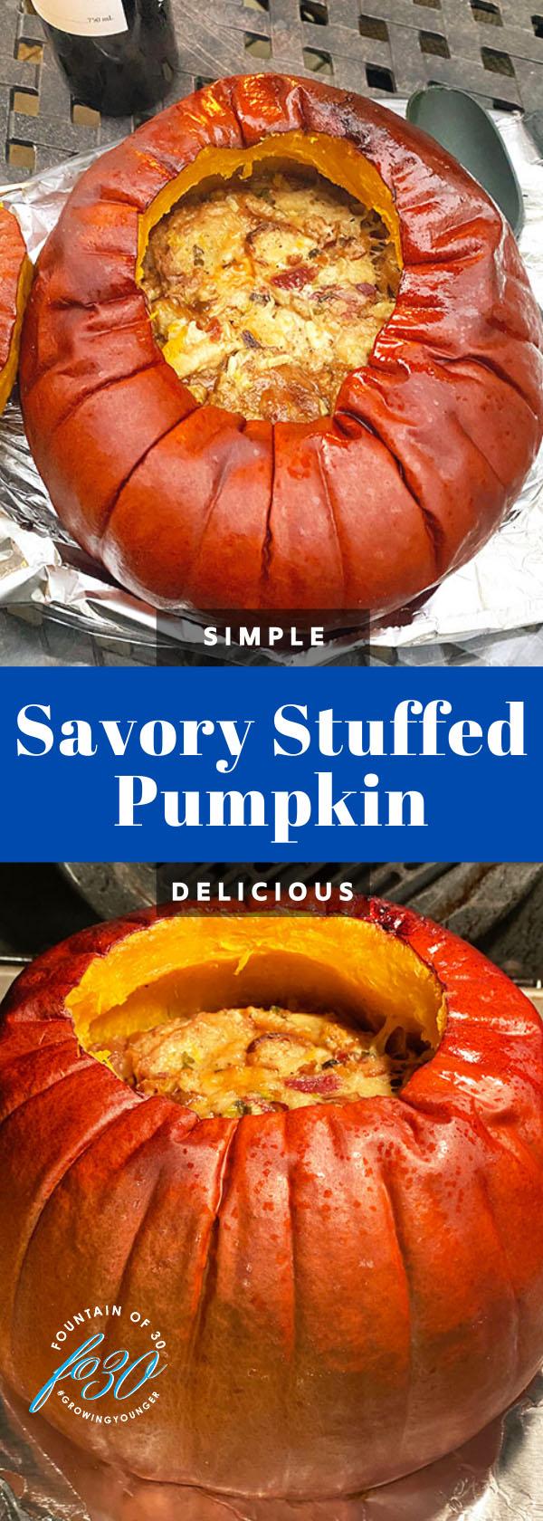 savory stuffed pumpkin fountainof30