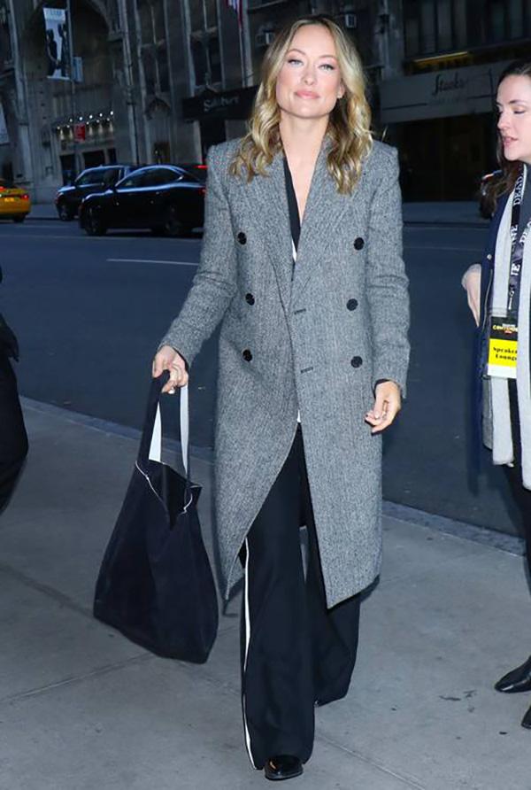 celebrities wide leg trousers Olivia Wildefountainof30