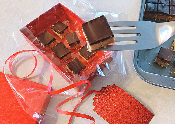 peanut butter chocolatre squares fountainof30