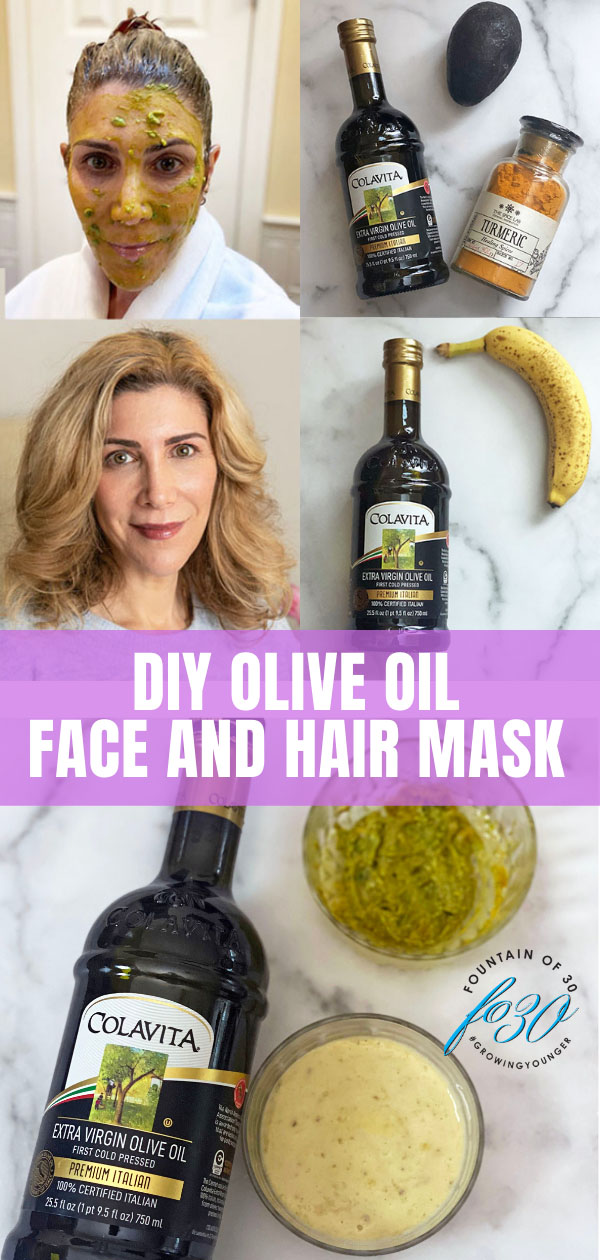 diy face mask olive oil hair mask fountainof30