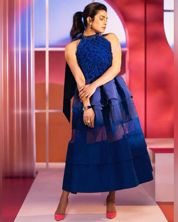 Priyanka Chopra Spring Dress Midnight Blue