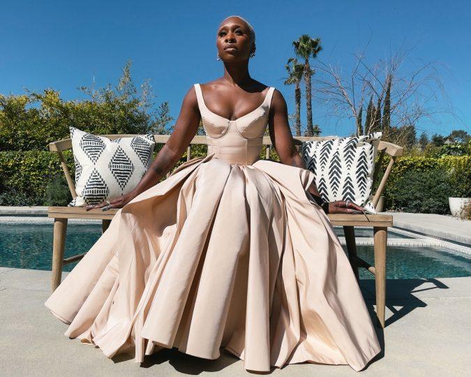 Cynthia Erivo in Alexander McQueen SAG Awards 2021 Fashion