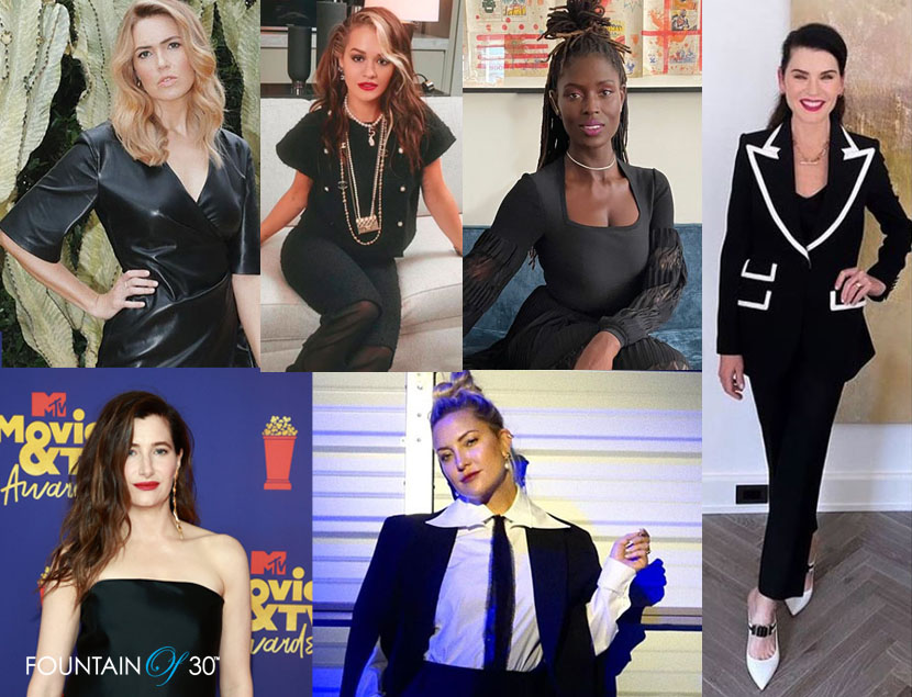 celebrities back in black fountaionof30