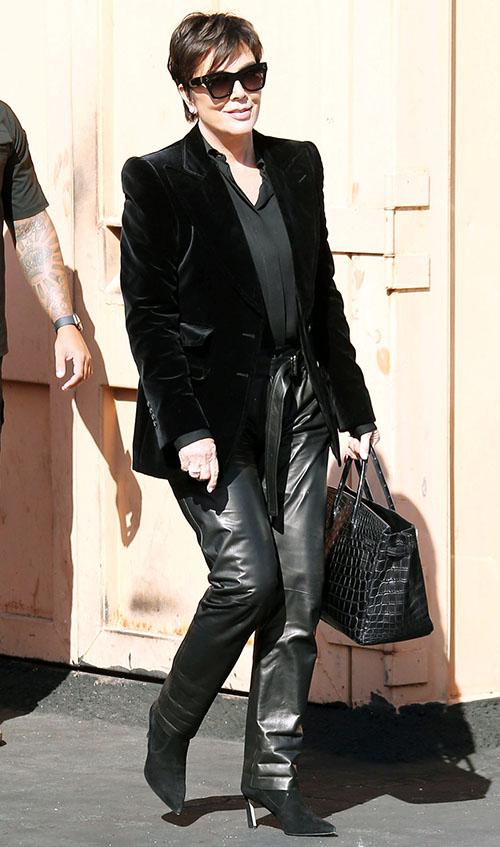 Kardashians Have Influenced Fashion Kris Jenner all black