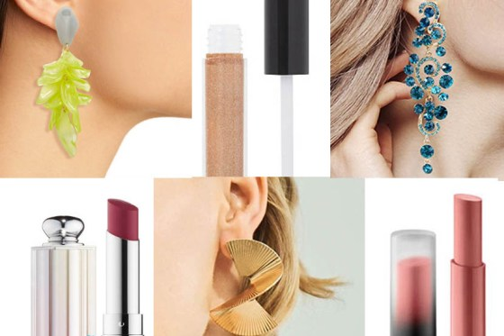 The Perfect Post-Mask Pairing: Statement Earrings And Lipstick