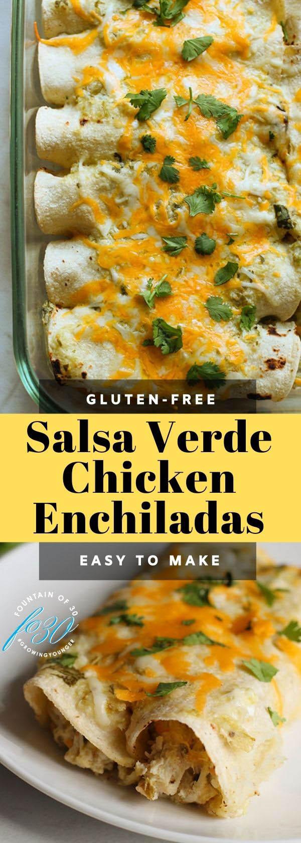 salsa verde chicken enchilladas foutainof30