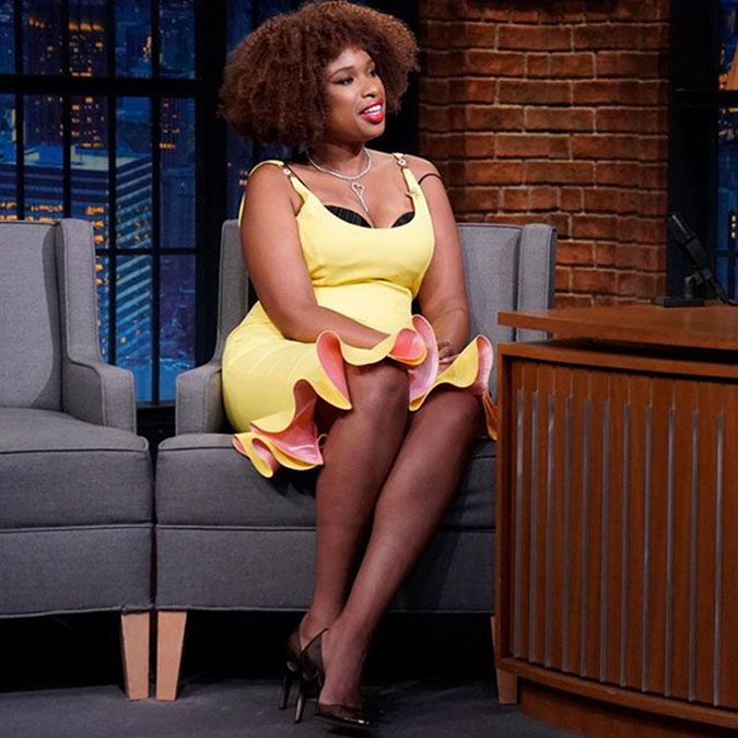 out there fashion Jennifer Hudson in Versace fountainof30