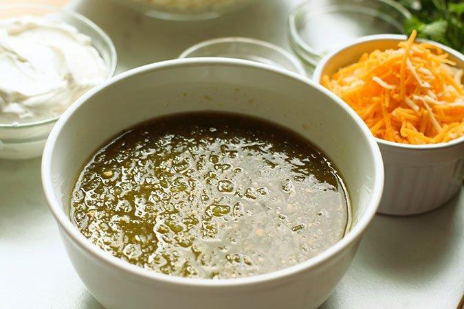 salsa verde sour cream and cheese fountainof30