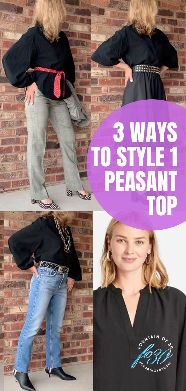 3 ways to wear a peasant top fountainof30