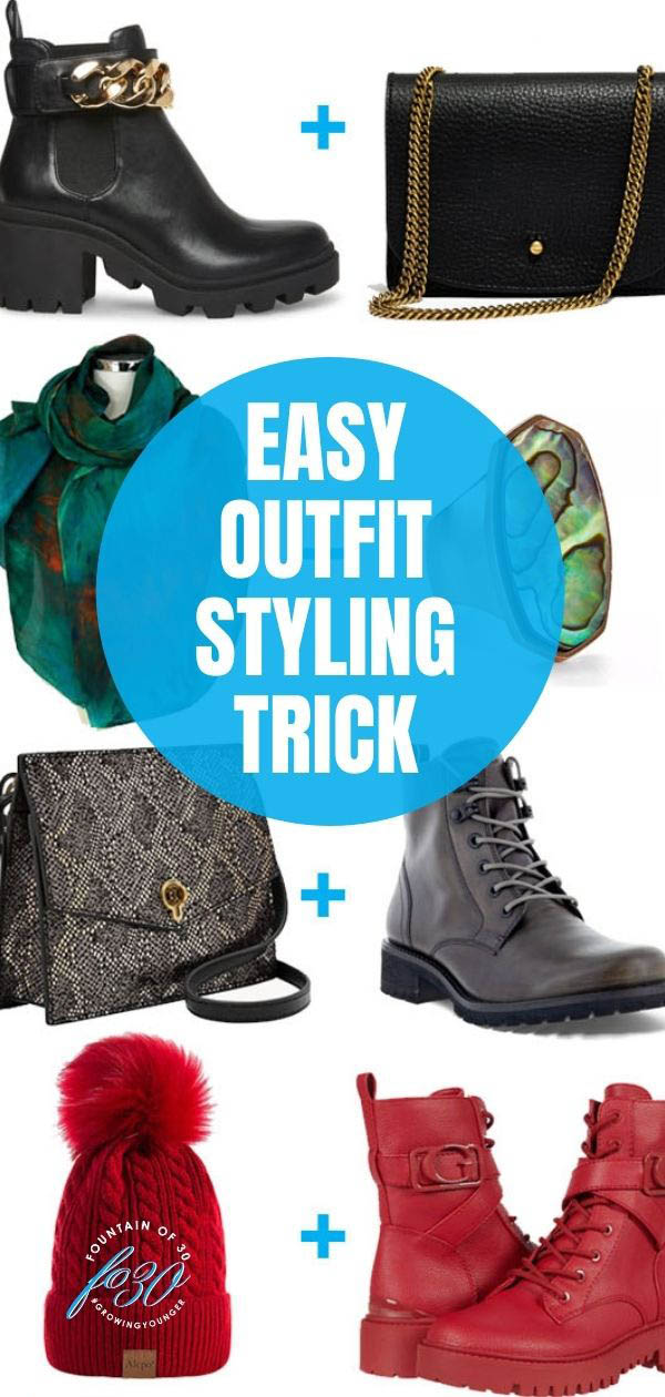 outfit styling trick matching accessories fountainof30