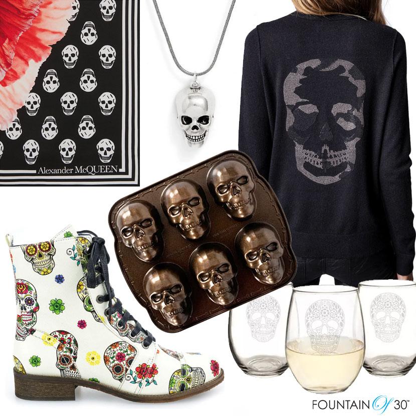skull symbol fashion home fountainof30