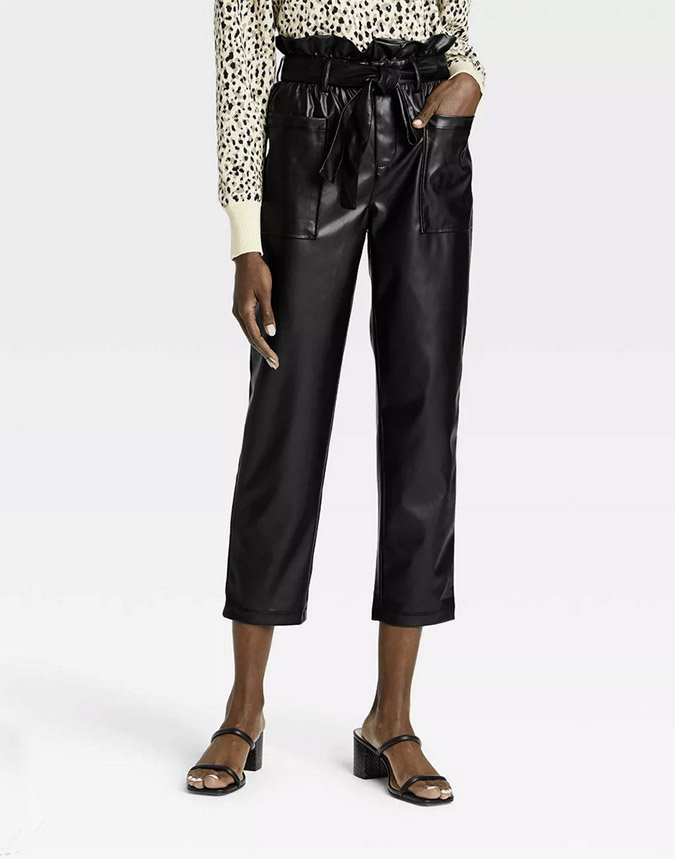 ways to wear Women's Ankle Length Paper Bag Trousers Who What Wear fountainof30