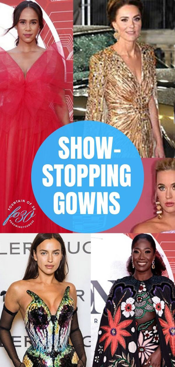 celebs in showstopping gowns fountainof30