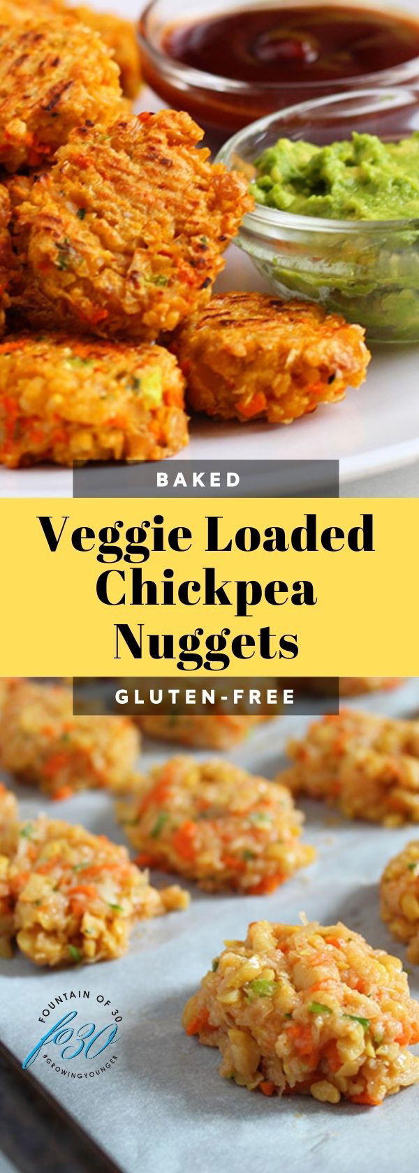 baked chickpea nuggets fountainof30