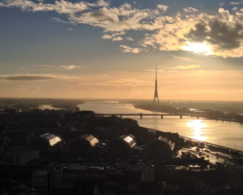 Fountain of Travel Weekend in Riga TV Tower View