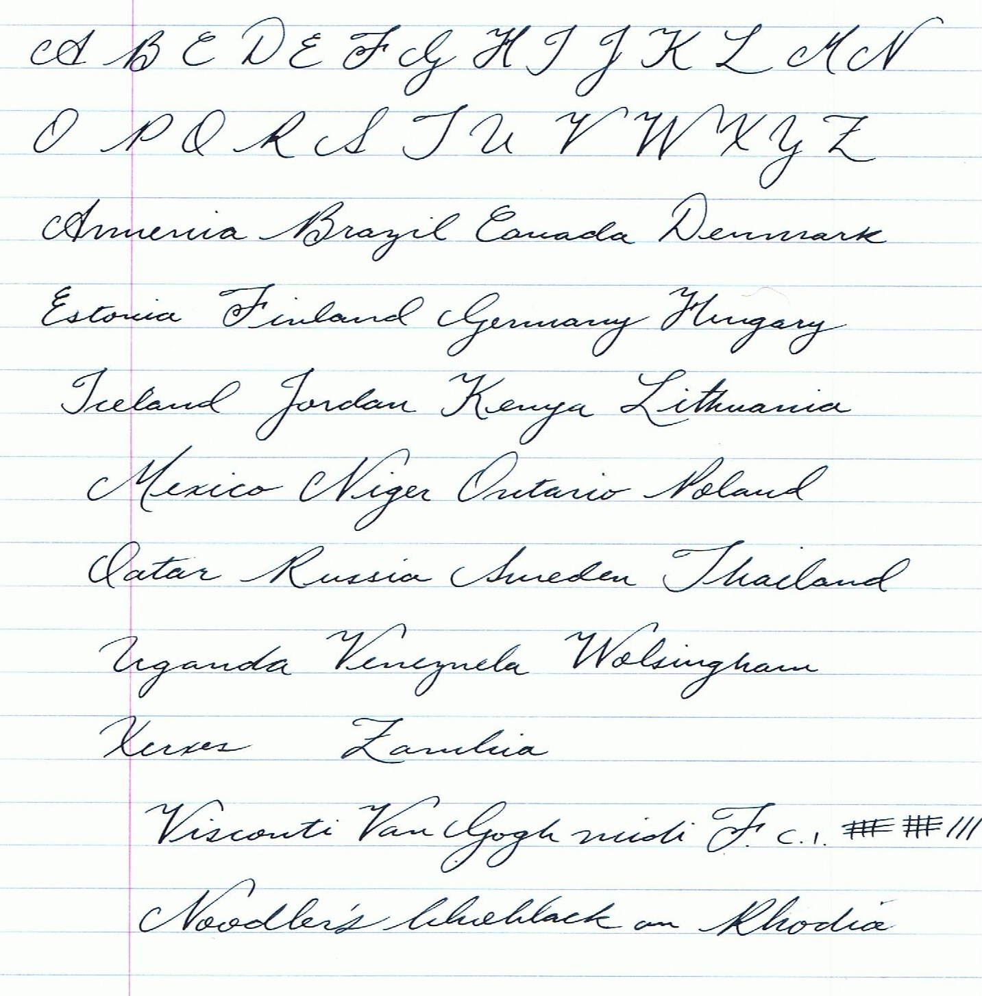 Please Post Your Cursive Alphabet Here