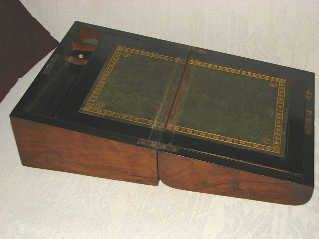 Question About Antique Portable Writing Desk  Paper and