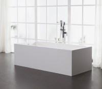 Freistehende Badewanne aus Mineralguss KZOAO-1007 Badewelt ...