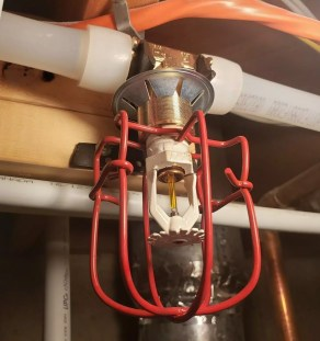 furnace room sprinkler head