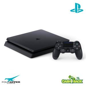 ps4 500 gb f black left