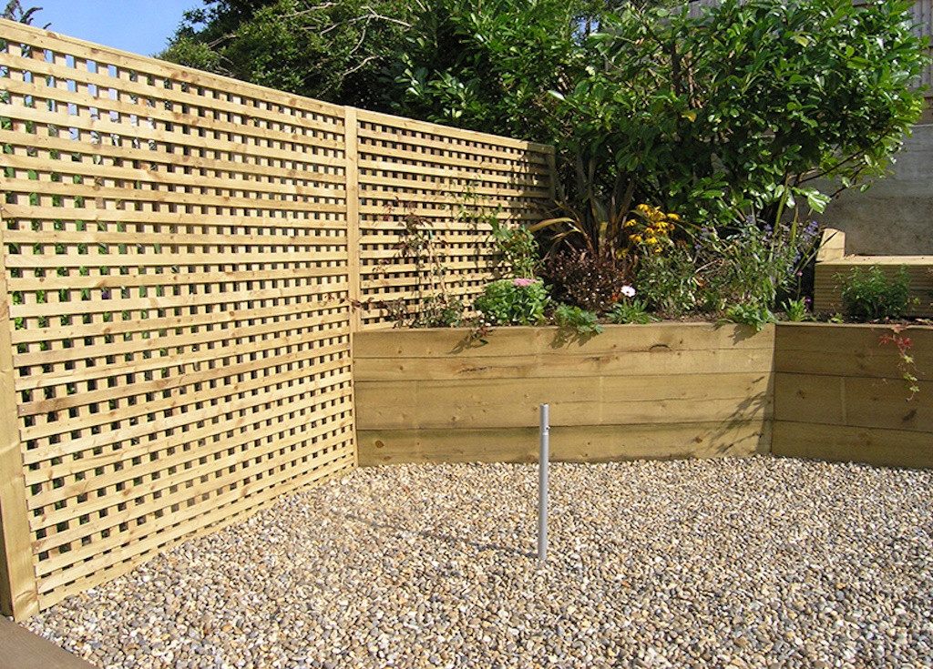 fence trellis raised bed