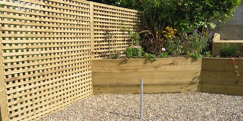 fence trellis raised bed