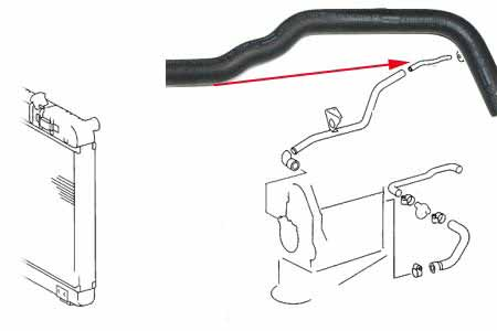 Mercedes W460 Heater Hose HEATER CORE > RETURN LINE.