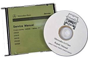 Mercedes GClass Repair Manual DVD